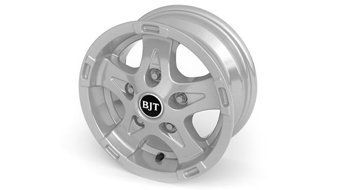 "Alloy wheels  – (13"" Style B2-Silver) + safety locking wheel bolts plus steel spare wheel"