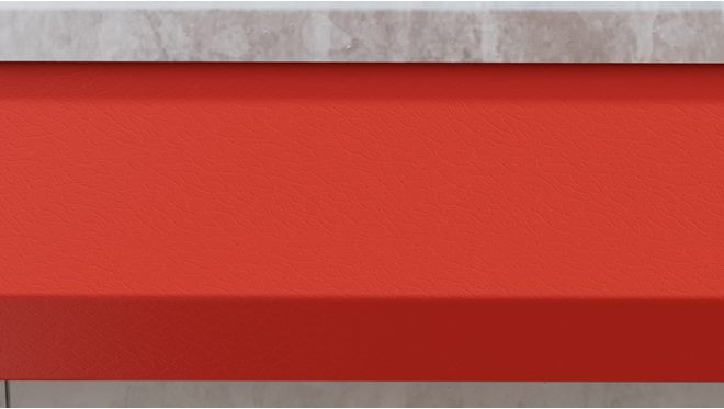 Bodywork colour - Red. Highly durable body colour panels enhances appearance
