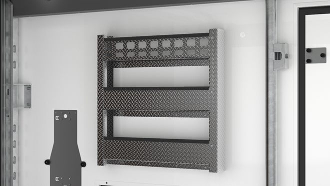 Aluminium side storage racks (pair, one each side)