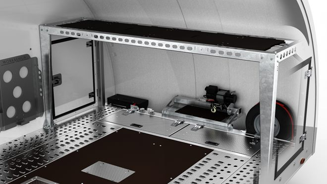 Work bench facility - consists of bench panels creating a flat and secure surface for convenience