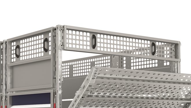 2.25m width Extended height side rear panel. Panel height to suit tilt-bed tail ramp