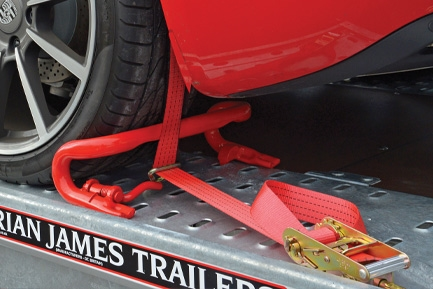 Tie-down wheel straps