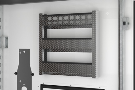 Aluminium side storage racks