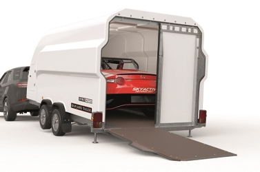 Loading ramp rear doors