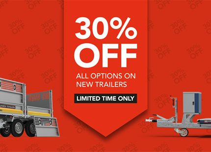 30% off all options on new trailers for limited period
