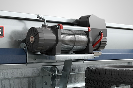 High capacity electric winch