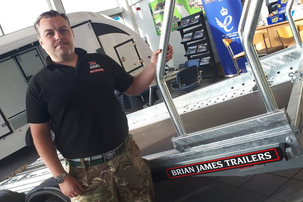 Brian James joins the Army