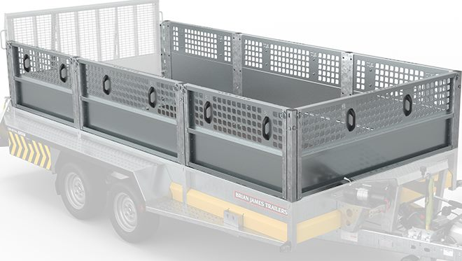 3.6m x 1.85m bed Extended height side panels. Removable retaining posts.
