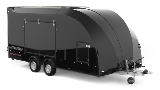 384-1060 -- Enclosed, 5.5m x 2.12m, 3.5t, 2 Axle, Race Transporter 4, Black Body